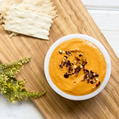Zesty Roasted Red Pepper Hummus