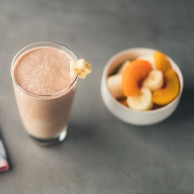 Peachy Coconut Protein Smoothie