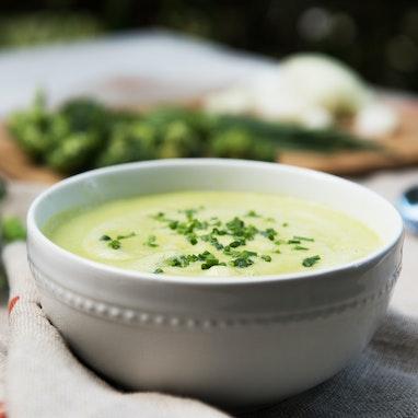 Broccoli, Pea, and Coconut Soup