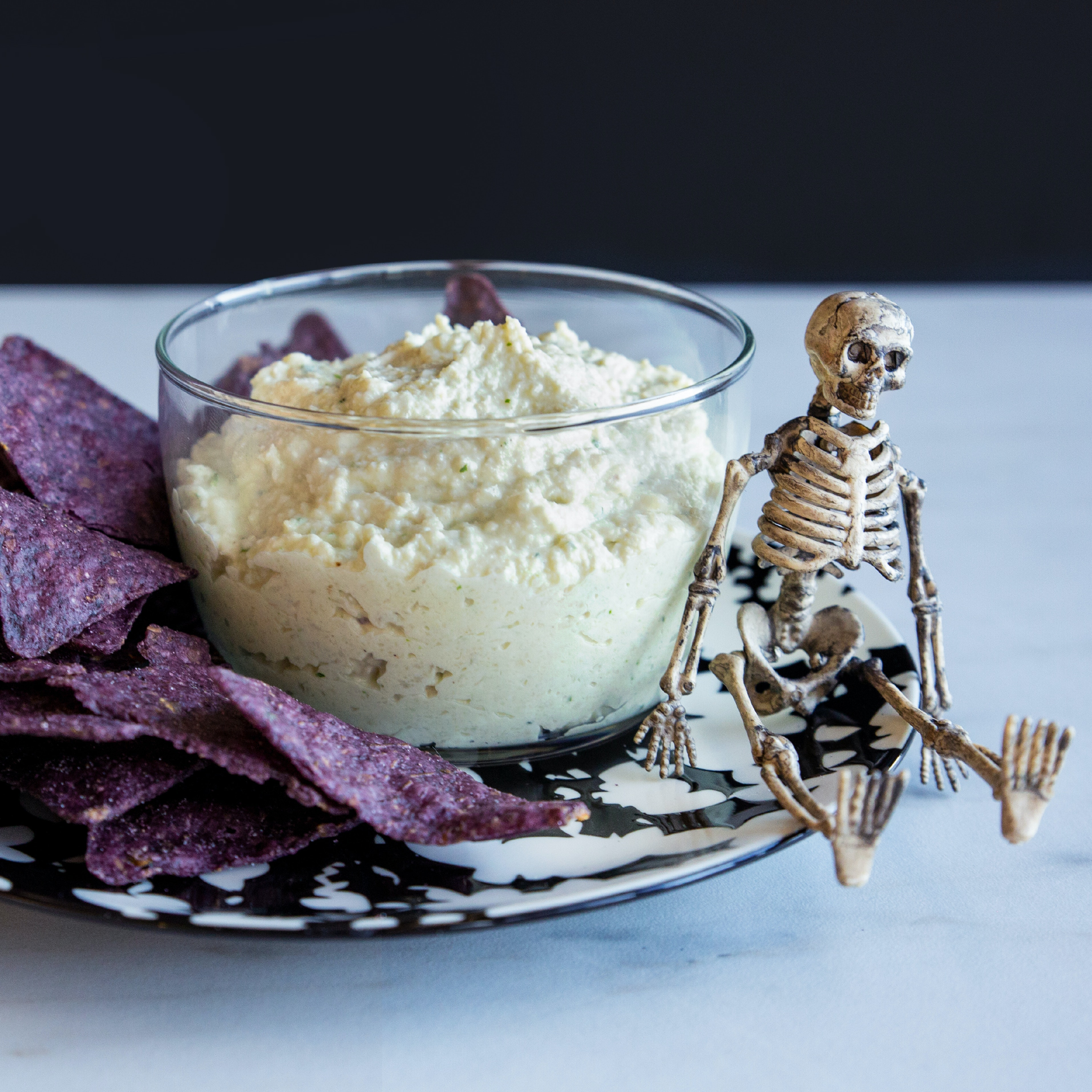 Spooky Herb Roasted Cauliflower Dip
