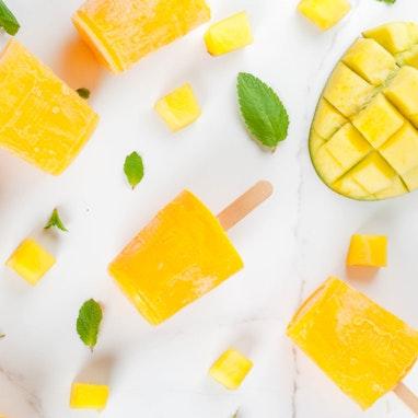 Mango and Banana Totsicles