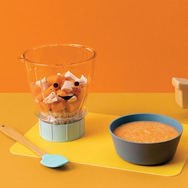 Chicken, Brown Rice, and Carrot Soup