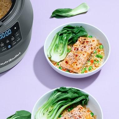 Salmon & Brown Rice with Bok Choy